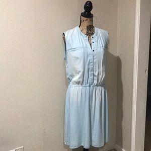 Merona Dresses - White Washed Denim Dress NWOT